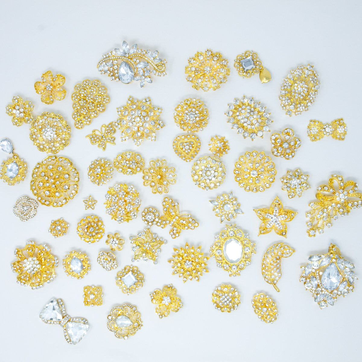 Bulk Rhinestone Embellishments for Crafts
