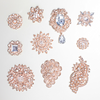 10 Piece Mixed Pack Rose Gold and Clear Rhinestones (10pcs/pkg)