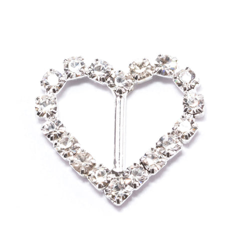ALL HEART RHINESTONE SLIDER BUCKLE 105-S