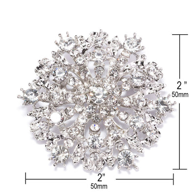 Rhinestone Wedding Brooch Measurements