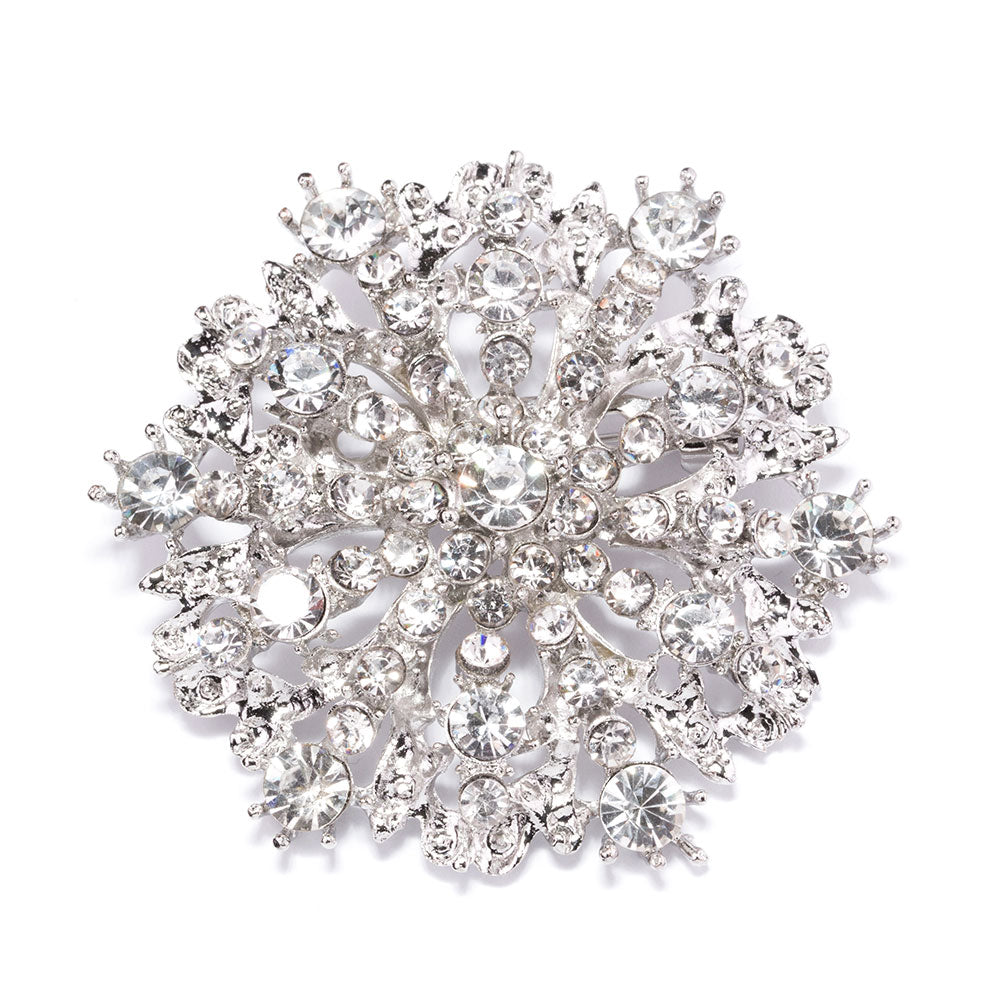 Rhinestone Wedding Brooch