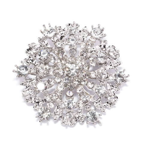 ANTIQUE STARBURST RHINESTONE BROOCH 407-S