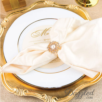 Flower Napkin Ring Wedding
