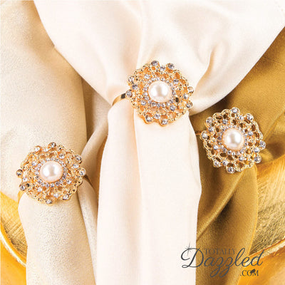 Flower Napkin Ring Gold