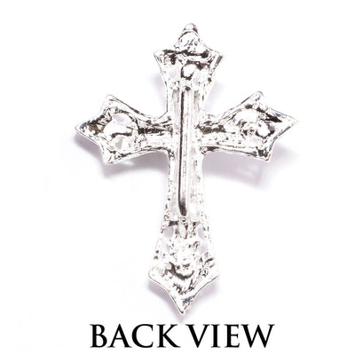 Rhinestone Cross Buckle for Invitations Back View