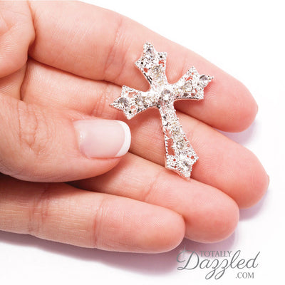 Rhinestone Cross Buckle for Invitations in Hand