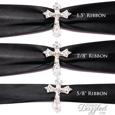 Rhinestone Cross Buckle for Invitations With Ribbon
