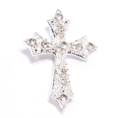CROSS RHINESTONE SLIDE BUCKLE 327-S