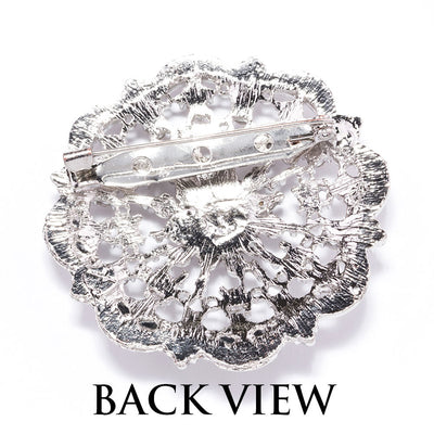Wholesale Diamante Wedding Brooches Back View