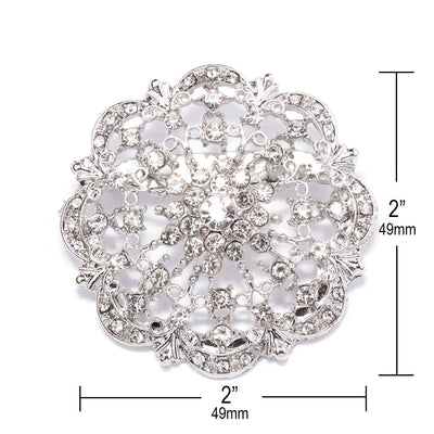 Wholesale Diamante Wedding Brooches Measurements