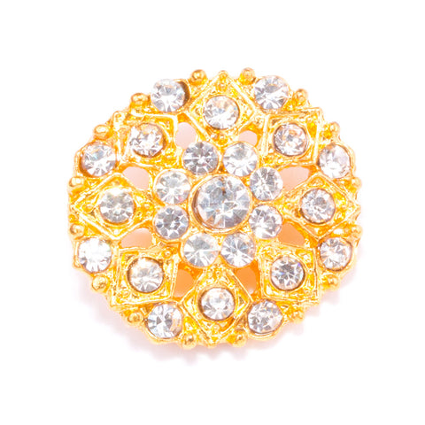 DIAMANTE GOLD BUTTON 704-G