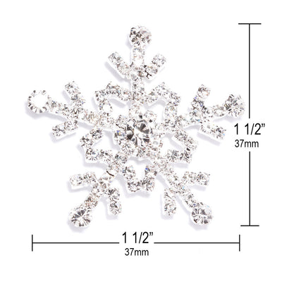 Snowflake Embellishments for Wedding Invitations Measurements
