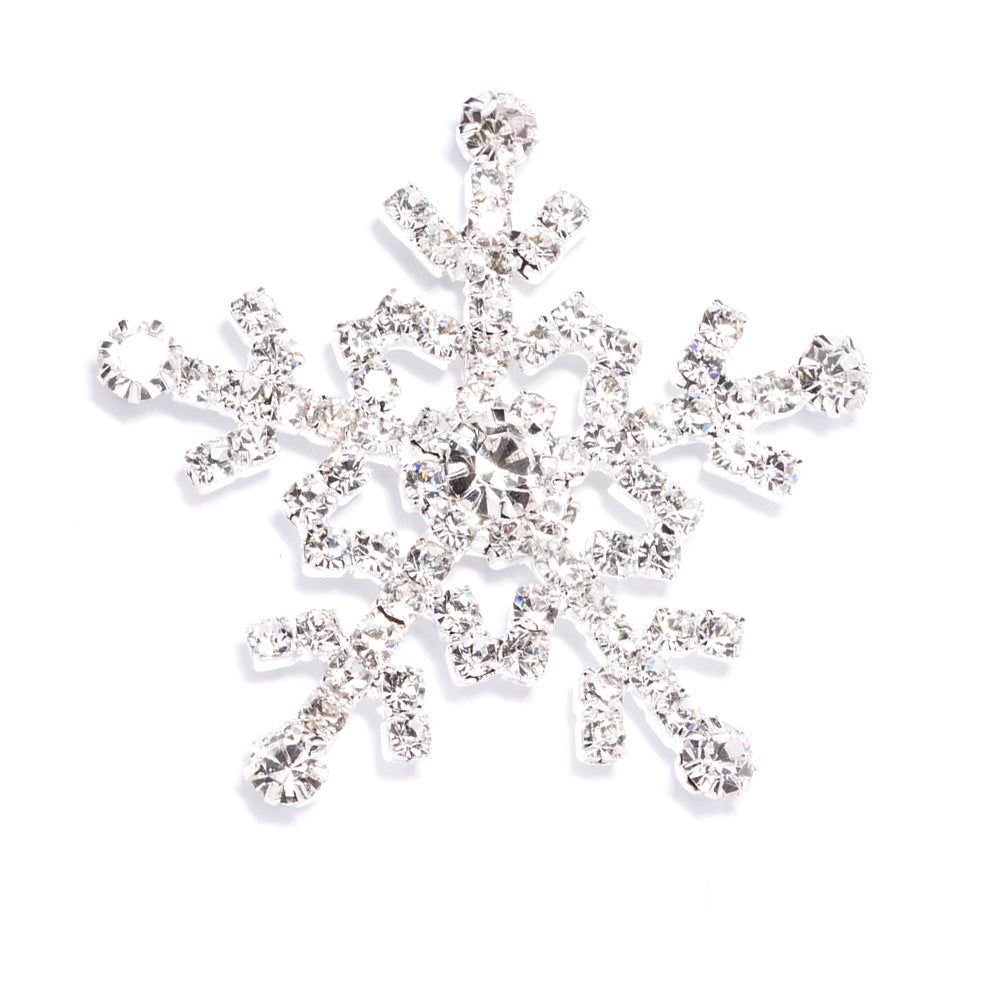 Diamante Snowflake Embellishments for Wedding Invitations