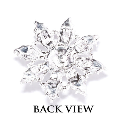 Diamante Snowflake Wedding Embellishments Back View