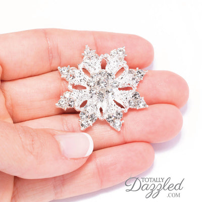 Diamante Snowflake Embellishment in Hand