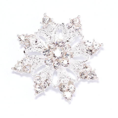 DIAMANTE SNOWFLAKE FLAT BACK 541-S