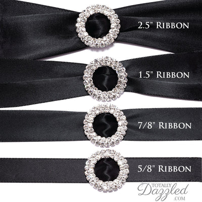 Diamante Ribbon Slider Buckle with Ribbon