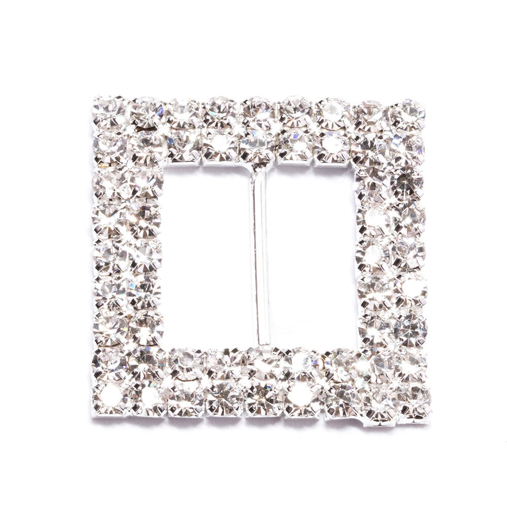 Rhinestone Square Buckle Slider Wholesale