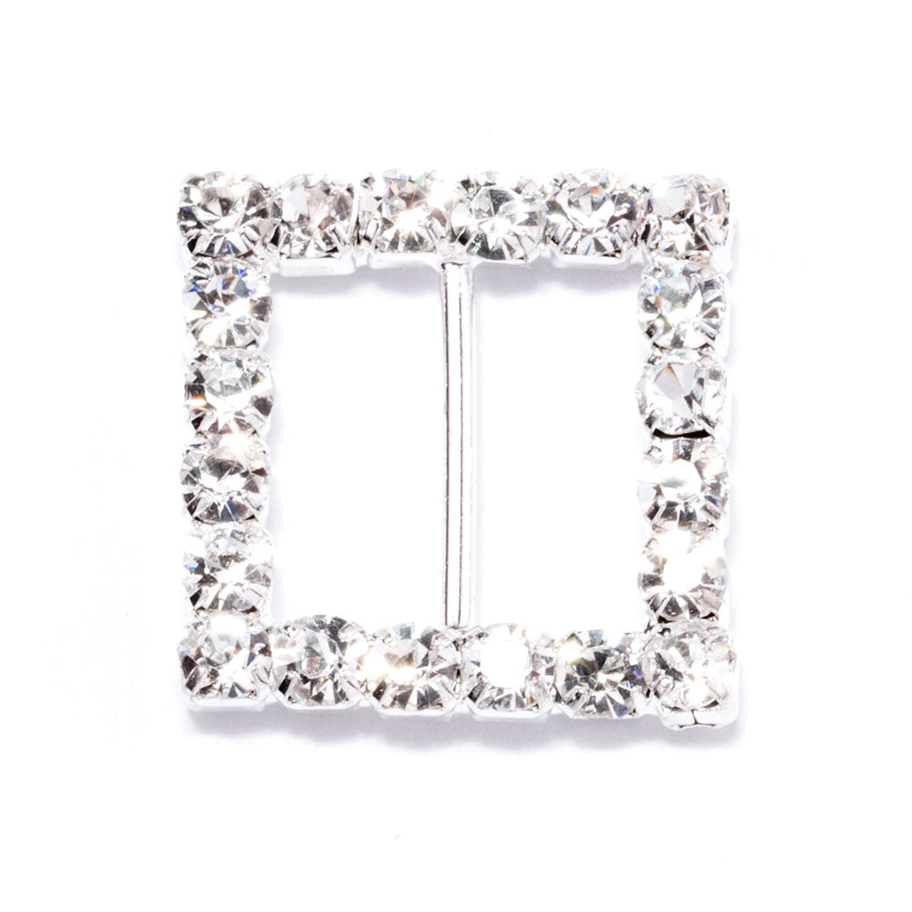 Square Rhinestone Ribbon Buckle Wholesale