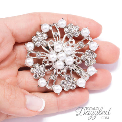 Wholesale Rhinestone Brooches Pearls