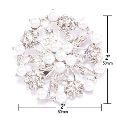 Silver Rhinestone Brooches Wholesale