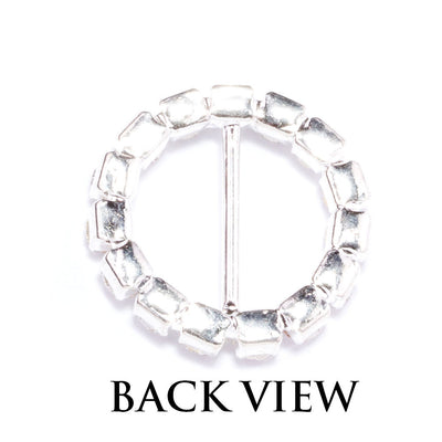 Rhinestone Circle Invitation Buckles Wholesale Back View