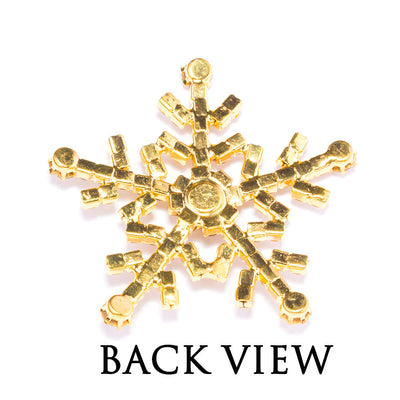 Large Diamante Snowflake Back View