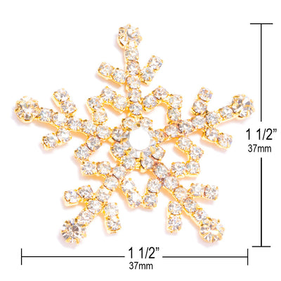 Large Diamante Snowflake Measurements