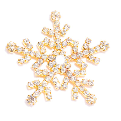 GOLD DIAMANTE SNOWFLAKE FLAT BACK