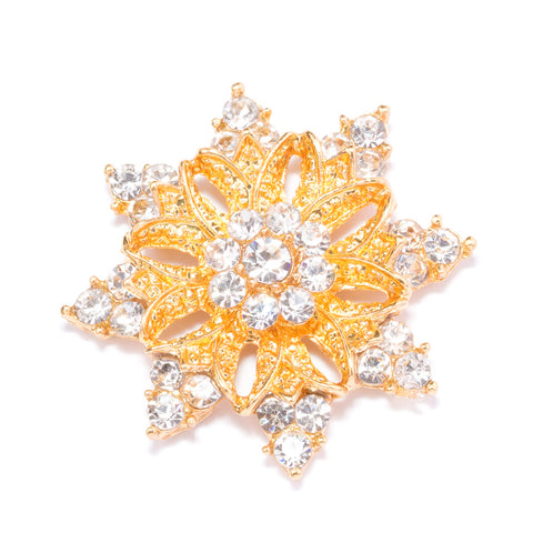 GOLD DIAMANTE SNOWFLAKE FLAT BACK 541 G