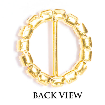 Gold Rhinestone Buckle Back View