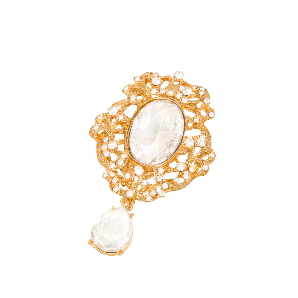 Gold Dangle Brooch