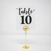 Gold Crystal Wedding Table Number Holder 322-G-S