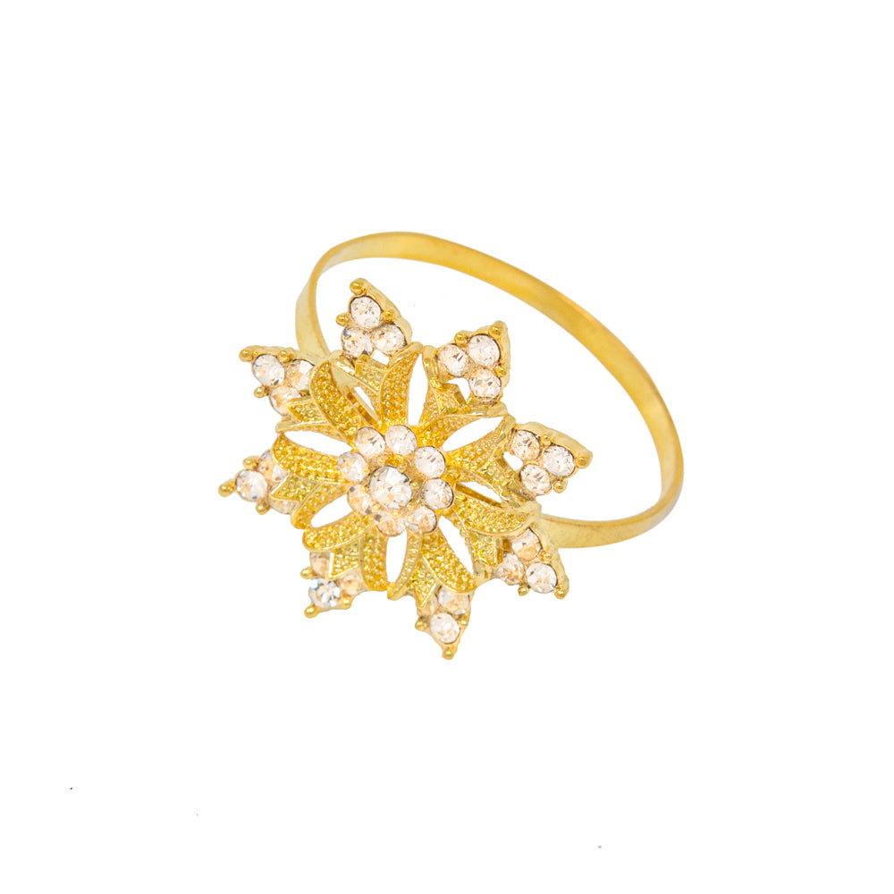 Gold Snowflake Napkin Ring