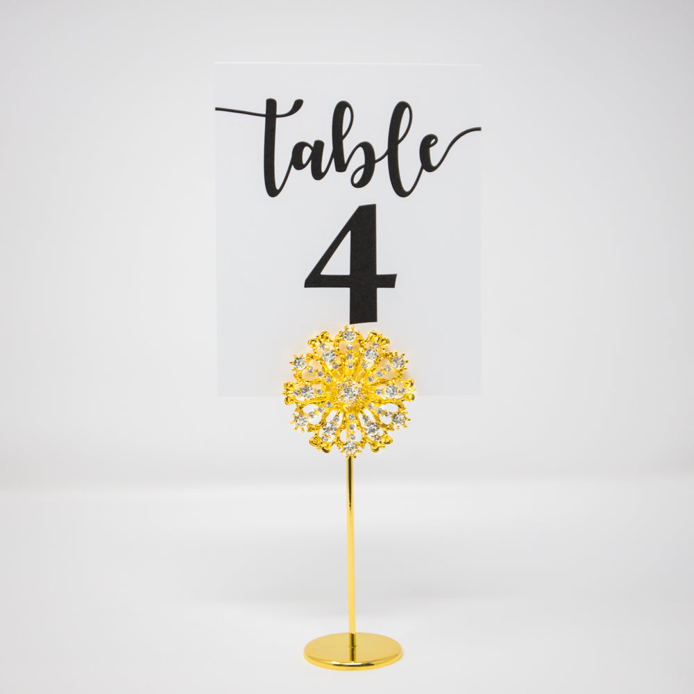 Gold Starburst Table Number Holder