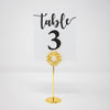 Gold Flower Rhinestone Table Number Holder