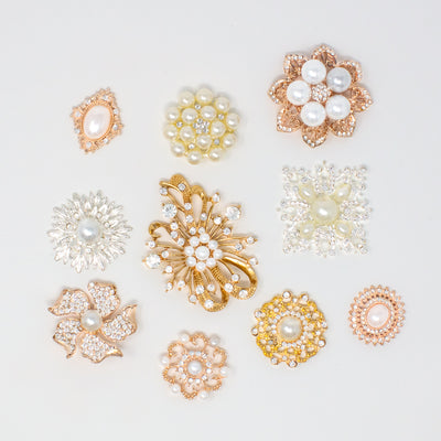 MIXED METAL BULK RHINESTONE EMBELLISHMENTS FOR CRAFTS WITH PEARLS
