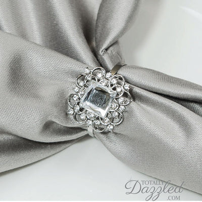 Vintage Crystal Wedding Napkin Rings