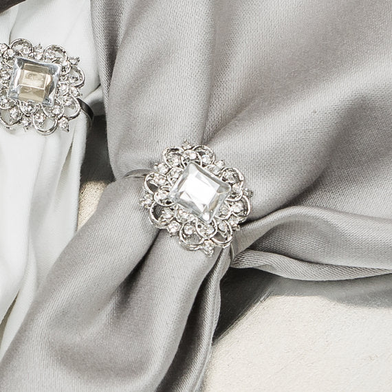 Crystal Wedding Napkin Rings