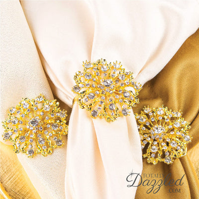 Starburst Napkin Rings Gold