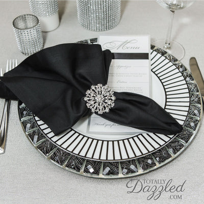 Silver Rhinestone Napkin Ring Wedding