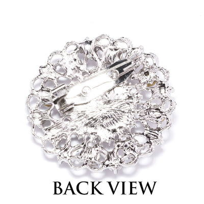 rhinestone brooch pin wholesale Back View