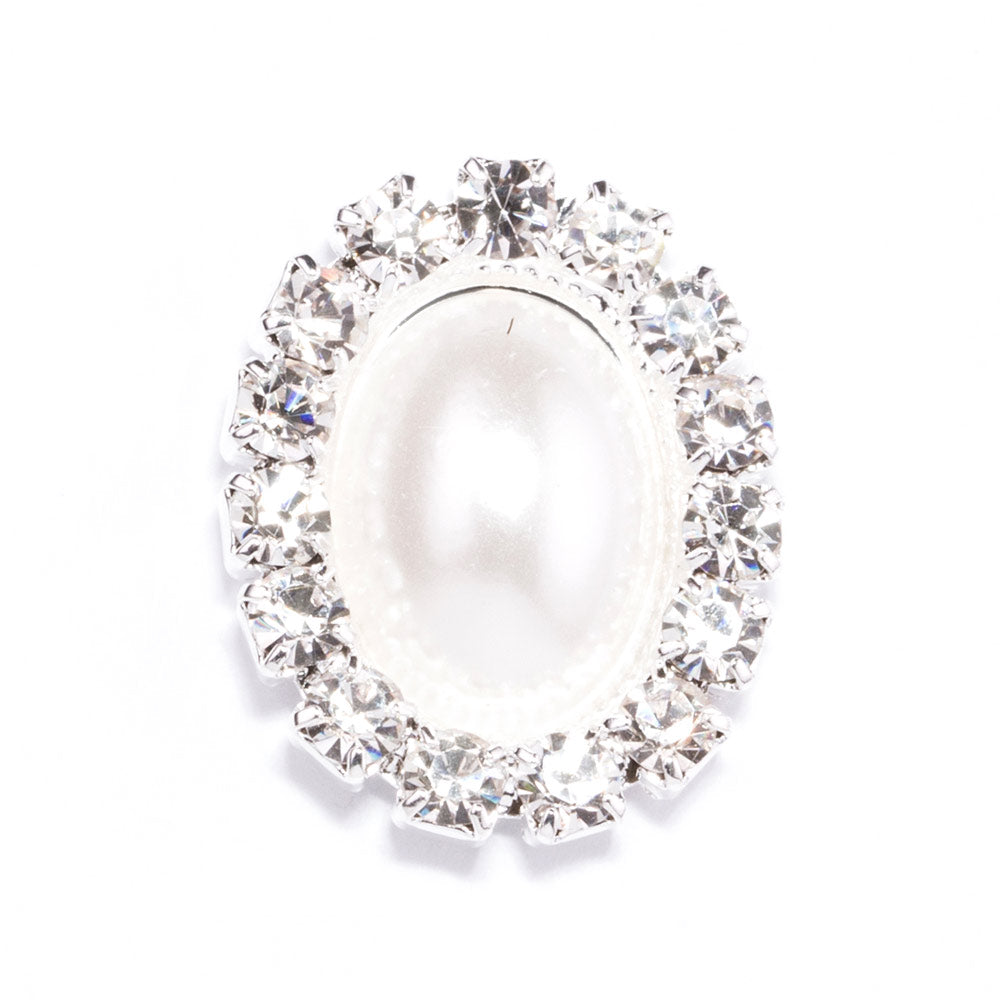 Oval Pearl Wedding Embellishments