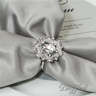 Napkin Rings Wholesale with Rhinestones