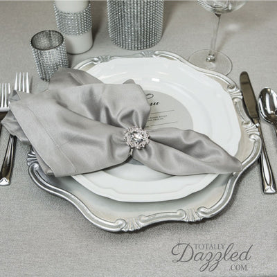 Bulk Wholesale Napkin Rings silver