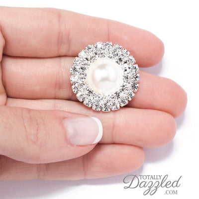 Wholesale Pearl and Rhinestone Embellishments in Hand