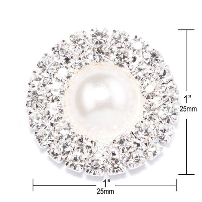 Wholesale Pearl and Rhinestone Embellishments Measurements