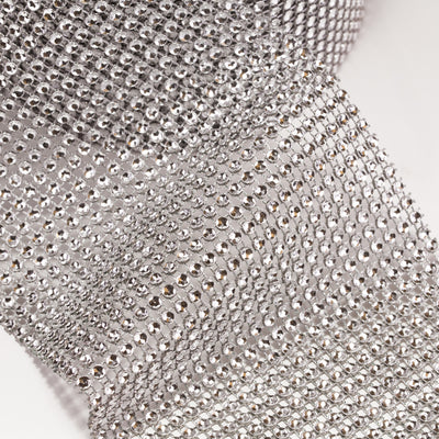 Rhinestone Mesh Ribbon Trim | Bling on a Roll