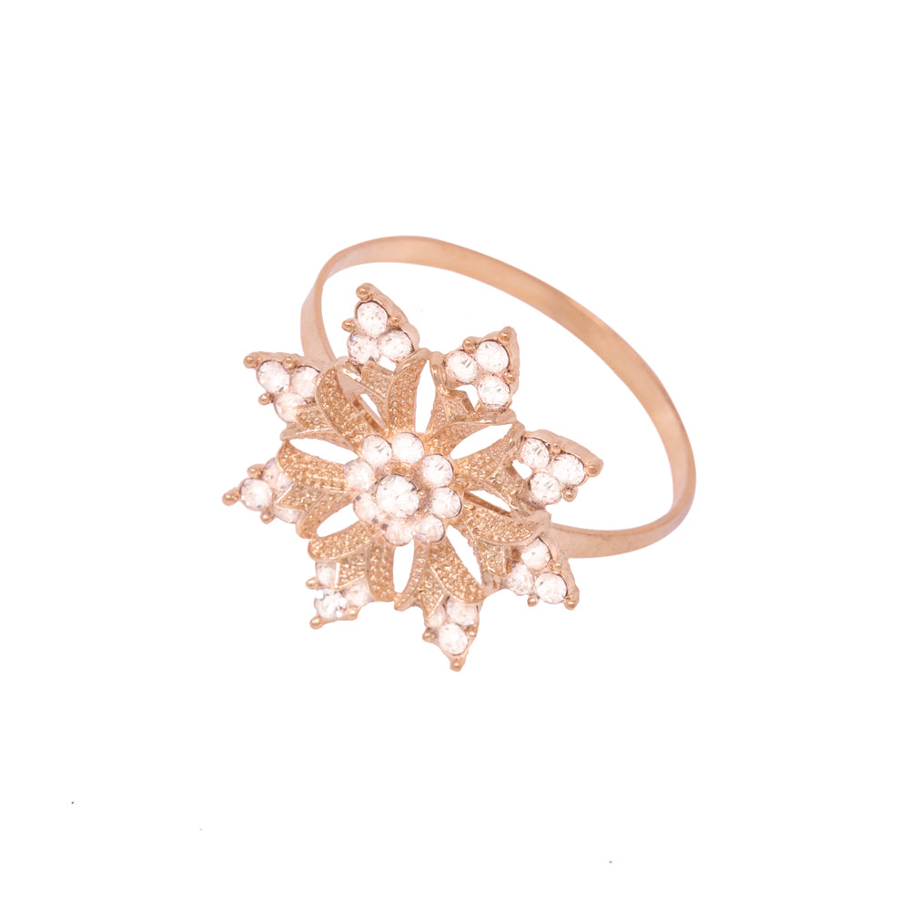 Rose Gold Snowflake Napkin Ring