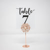 Rose Gold Table Number Stands